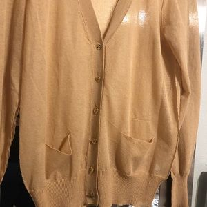Tory Burch Beige Gold cardigan